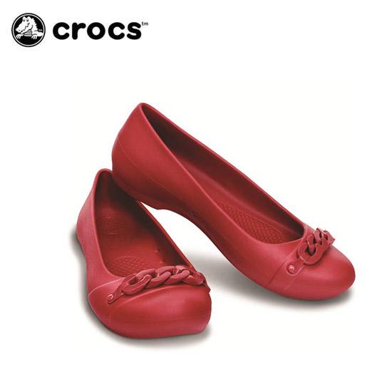 [크록스 정품] 크록스 지아나 링크 플랫 우먼 14574-6T6 DRd/DRd  - 38,900원
