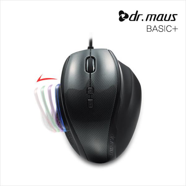 [TS]닥터마우스 Dr.maus 베이직 플러스(Basic+)/인체공학 레이저 마우스/3000dpi조절/엄지크기조절/USB연결