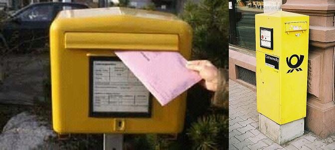 German mailbox (photo: Martina Simon)