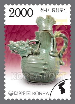 韩国11月20日发行2000韩元普票-鱼龙青瓷