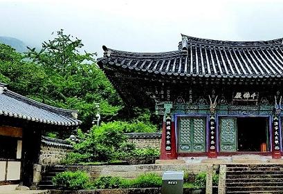 관광우편날짜도장 속의 사찰 건물 ②