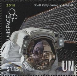 UNISPACE+50 - Scott Kelly during spacewalk / NASA