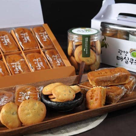 [남도장터] 빛그린 광양 곶감빵(40gx10개입)/매실쿠키(130gx2개)