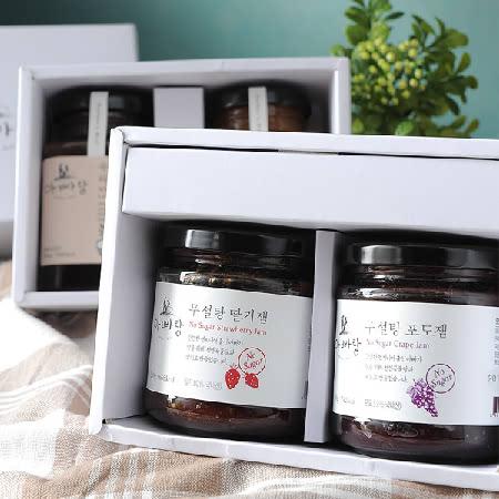 [남도장터] 천연 무설탕 수제딸기잼 선물세트(2종)