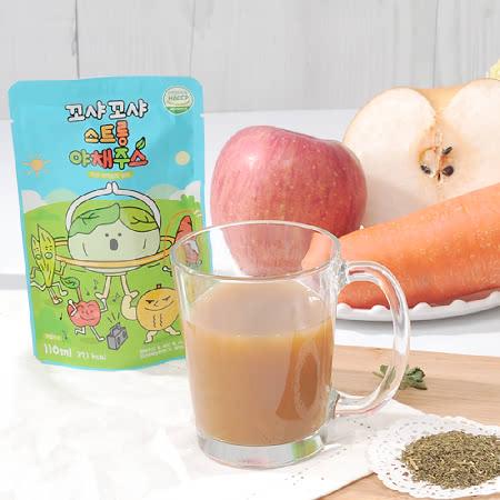 꼬샤꼬샤 스트롱 야채쥬스(양배추,사과,배,새싹보리,당근) 스탠딩형30팩/아름답게그린배