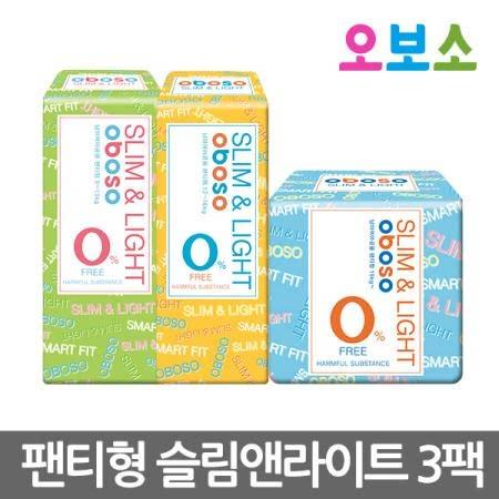 오보소 기저귀 팬티형 슬림앤라이트 3팩 [기저귀]