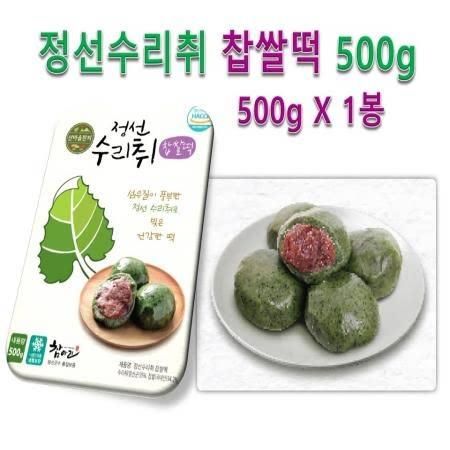 쫄깃한 식감이 살아있는 정선수리취떡 찹쌀떡