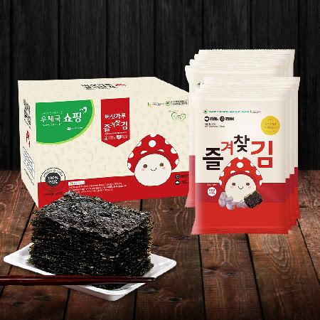 영양듬뿍 국내산 버섯가루 즐겨찾김(전장김 7봉) 선물세트