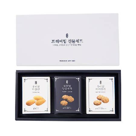 [전북사회적기업] 김제 우리밀 프리미엄 쿠키 3종 선물세트