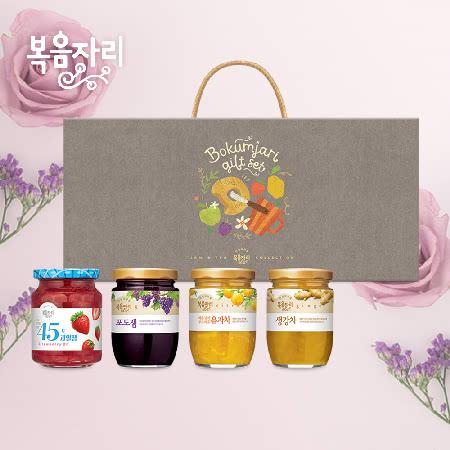 복음자리 복합 7호 선물세트 (딸기잼/포도잼/유자차/생강차)