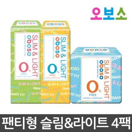 오보소 기저귀 팬티형 슬림앤라이트 4팩 [기저귀]