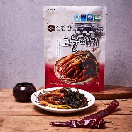 순천고들빼기영농조합법인 21년 햇봄고들빼기김치, 개랭이고들빼기김치 1kg