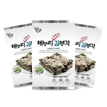 해누리 전통맛 수제 찹쌀 김부각 10봉 세트 /  화사 김부각 / 선물용
