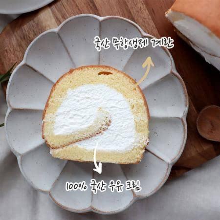 [수제 롤케이크] 100% 국산 우유 크림 롤케이크