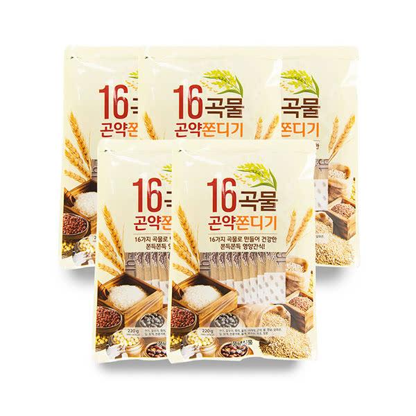 향수옥천 돌아온 추억의 16곡물 곤약쫀디기 10매 * 5봉