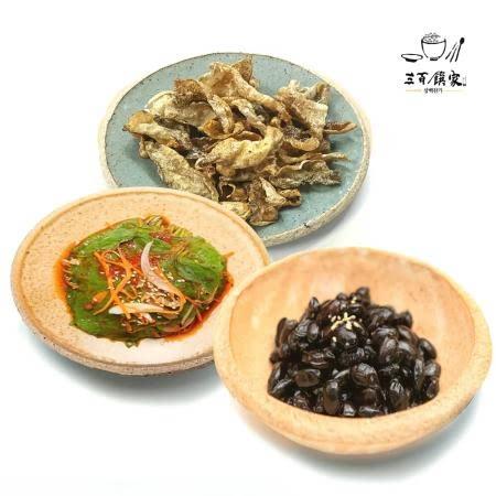 삼백찬가 반찬3종세트 서리태검은콩조림120g 황태껍질튀각강정40g 깻잎김치100g