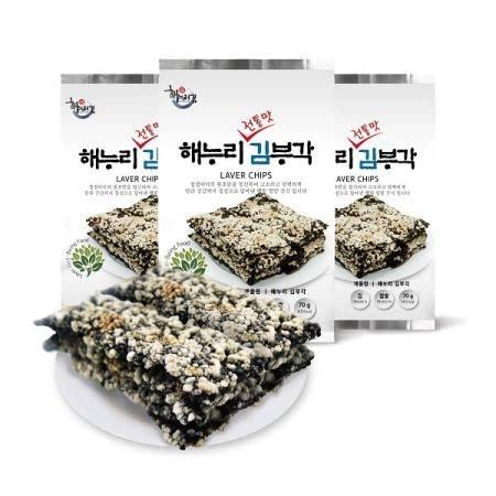 해누리 전통맛 수제 찹쌀 김부각 3봉 세트/화사 김부각/선물용