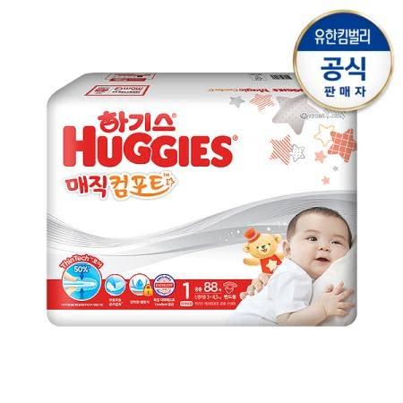 하기스 매직컴포트 기저귀 1단계 신생아 공용 88매*3팩(밴드형)