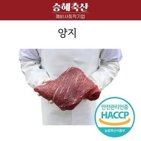 한우 양지 1kg 로스트용 구이 탕/국 캠핑요리추천