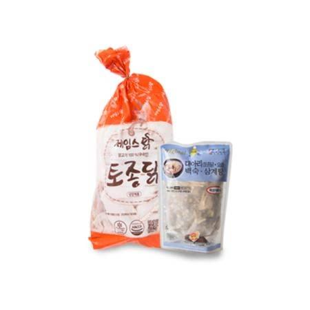 순창 [제임스덕] 백숙용 토종닭 세트 (토종닭+약재)
