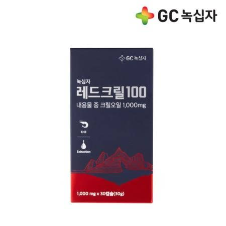 [GC녹십자] 레드크릴 100 30캡슐x1개(1개월)