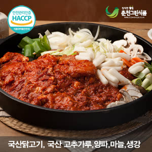 강원도 춘천 강명희님의 춘천 원조닭갈비 1kg(국산통다리살,국산...