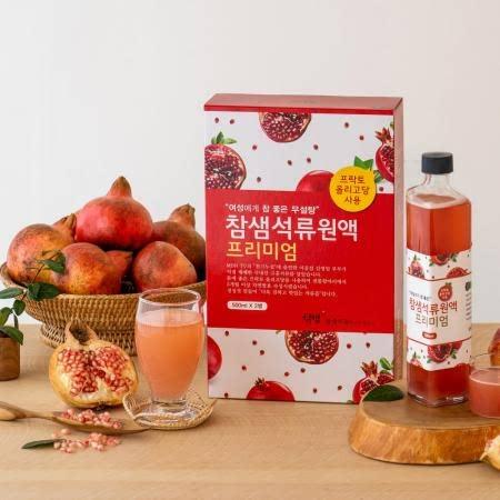 [참샘푸드] 고흥에서 직접재배한 국내산 NFC 착즙 석류즙, 석류원액