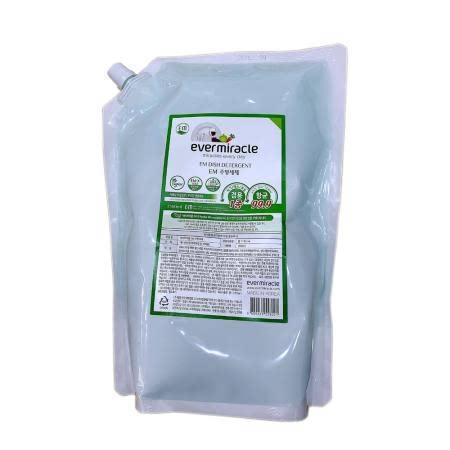 EM주방세제(식기/채소,과일겸용)리필 친환경 99.9%항균 저자극 비건인증