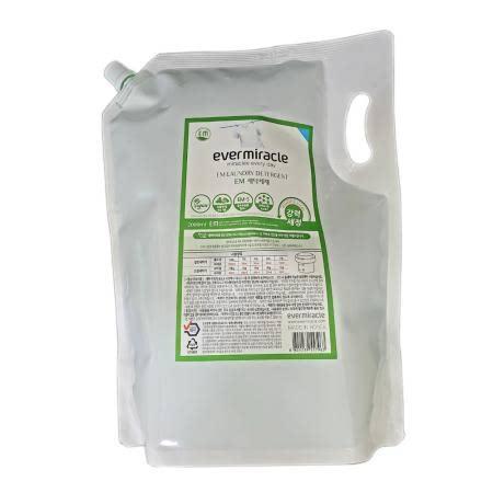 EM세탁세제리필(일반/드럼/손세탁겸용) 뛰어난세척력 순한세제 식물유래세정성분