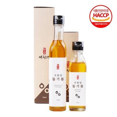 [생산자직송] 강원도 김봉현 장인 갓 볶은 들기름 250ml