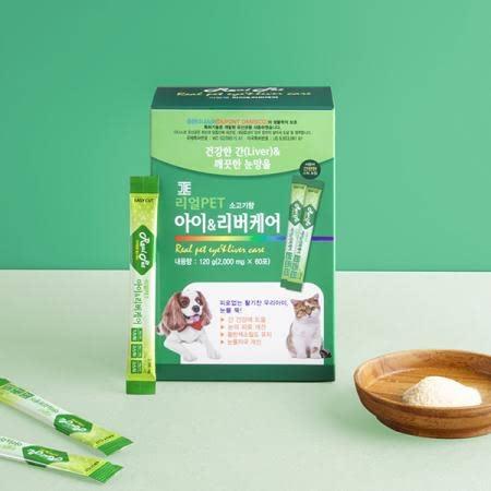 리얼펫PET 아이&리버케어 2g*60포 (간기능 및 눈건강 영양제)