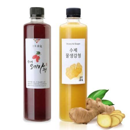 삼백찬가 수제청 2종set (꿀생강청,오미자청 각600g)
