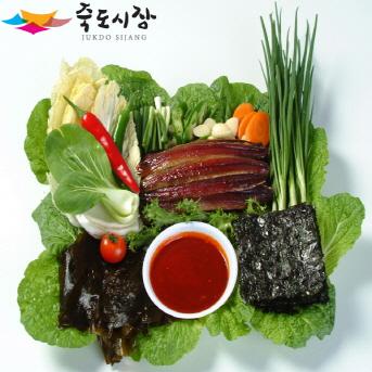 [포항 죽도시장] 과메기(구룡포 과메기 20마리 야채세트) 4~5인분 용 세트